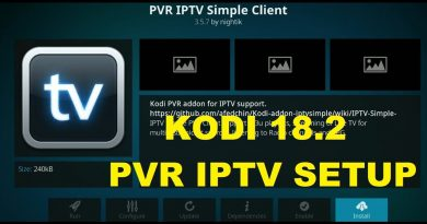how to setup pvr iptv simple client Kodi 18.2 May 2019