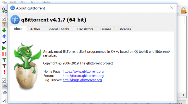 Bittorrent Client qBittorrent 4 1 7 is out - Pin System