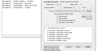 Create dozens or even thousands of folders and name them instantly with New Folder Wizard