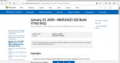 Microsoft releases KB4534321 and KB4534308 for Windows 10 version 1809 and 1803