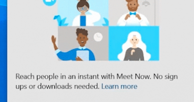 What is Meet Now in Windows 10 and how to remove it