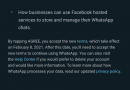 If you don't agree to WhatsApp's new terms, your account will eventually be deleted