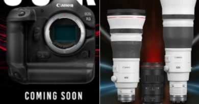 Canon confirms EOS R3 full-frame mirrorless camera is under development, launches three new lenses