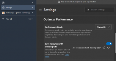 Microsoft Edge's new Performance Mode feature aims to optimize the browser's performance