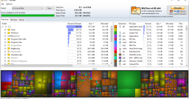 Disk Space Analyzer WizTree 4.00 has been released