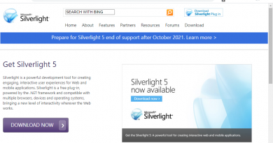 Microsoft Silverlight supports ends October 12, 2021: here is what you need to know