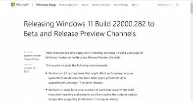 Microsoft is testing a fix for AMD's Windows 11 performance issue